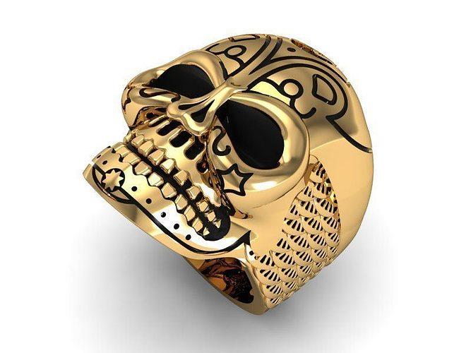 skull ring 3d model stl 3dm 1