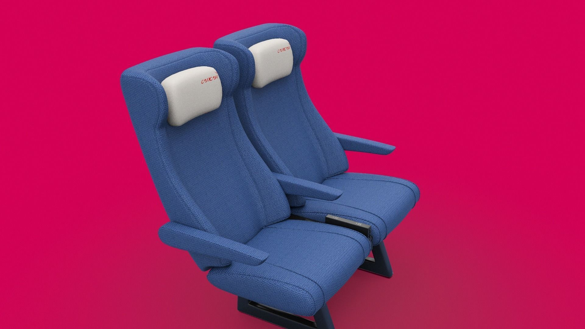 Train seat Plane passenger seats with pillow and armrest