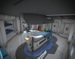 spaceship interior hd 3 3d