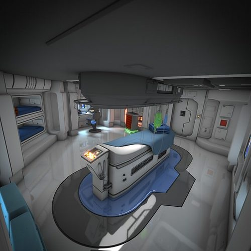 spaceship interior hd 3 3d model obj mtl fbx lwo lw lws blend pdf 1