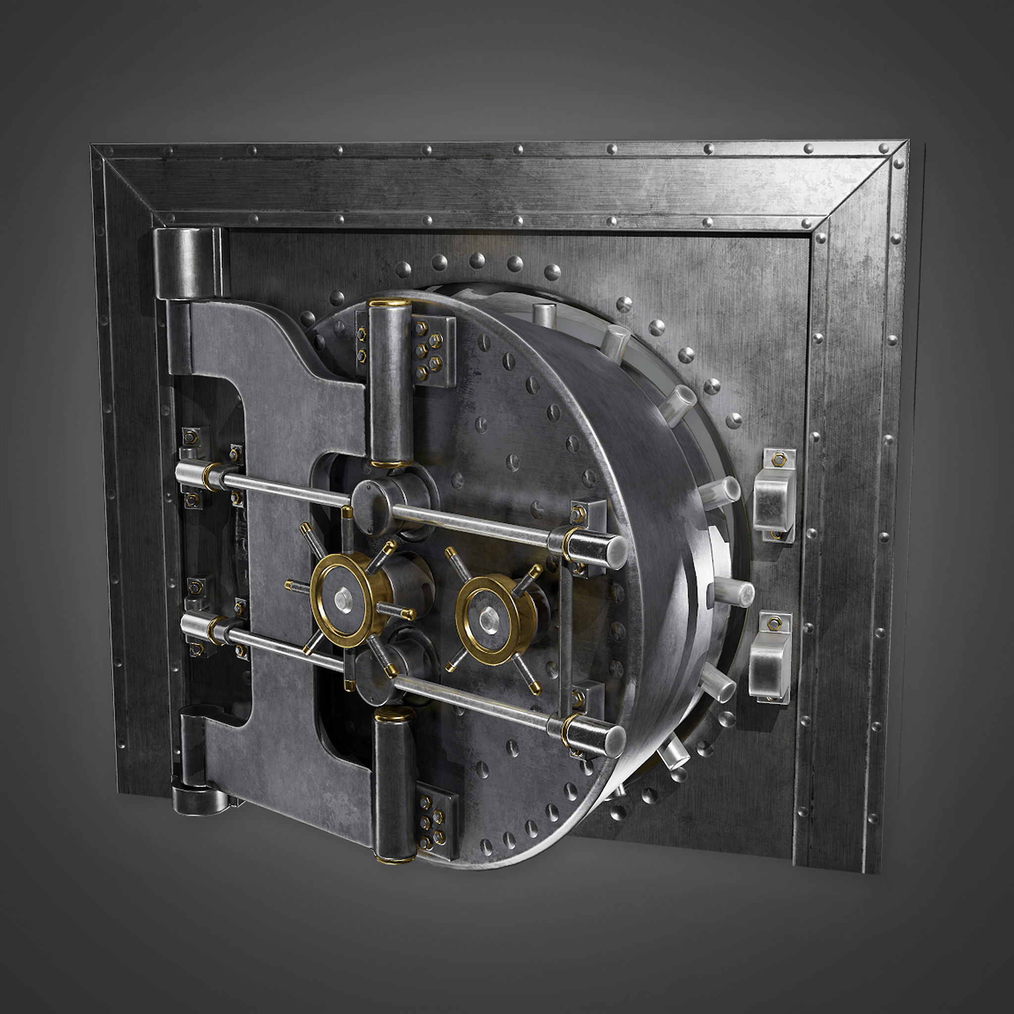 BHE - Metal Bank Vault - PBR Game Ready