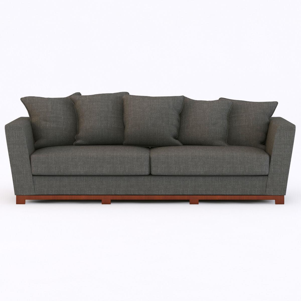Custom Sofa Portland Oregon: Portland Modern Sofa 3D Model .max .obj .3ds .fbx