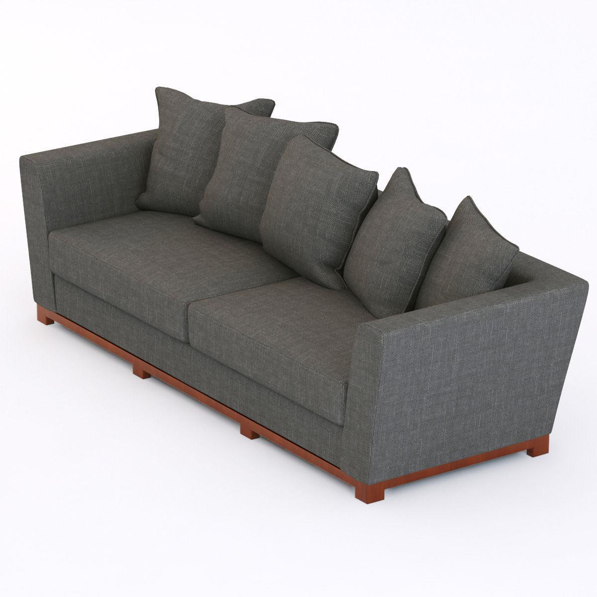 Portland Modern Sofa 3d Model Max Obj 3ds Fbx