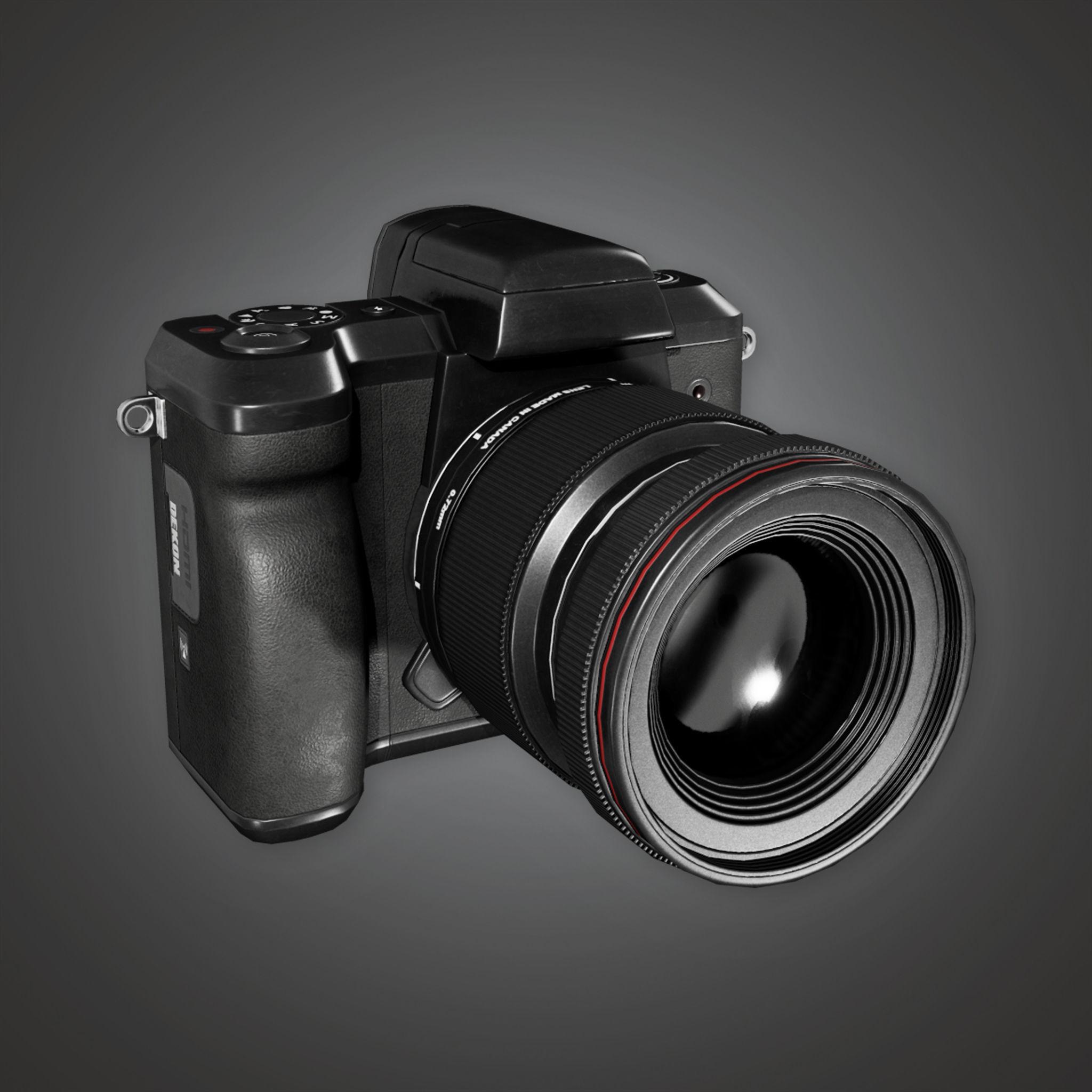 HLW - DSLR Camera - PBR Game Ready