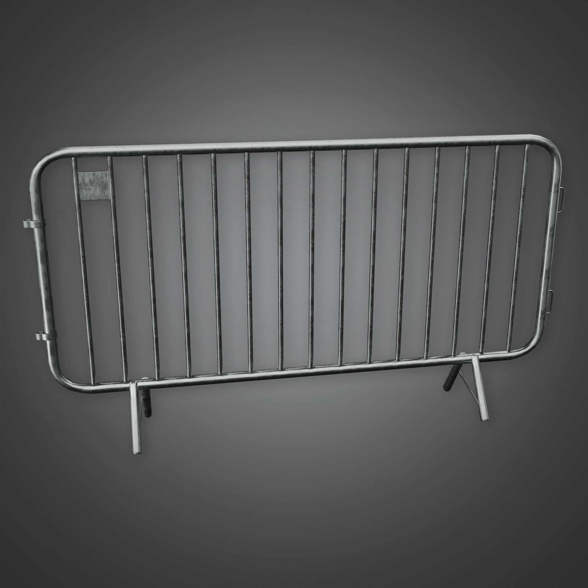 HLW - Concert Crowd Barrier 01 - PBR Game Ready