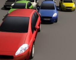 grande punto multi color low-poly 3d model