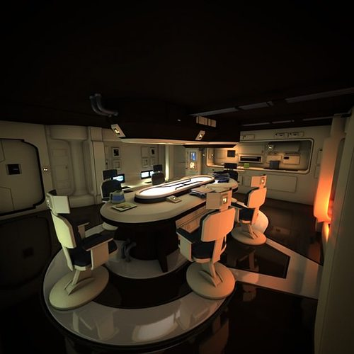 spaceship interior hd 1 3d model obj fbx lwo lw lws blend mtl 1