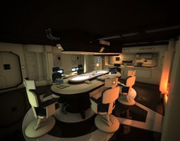 Spaceship Interior HD 1 3D Model