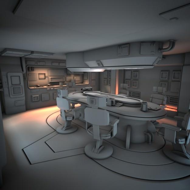 Spaceship Interior HD 1 3D Model .obj .fbx .lwo .lw .lws