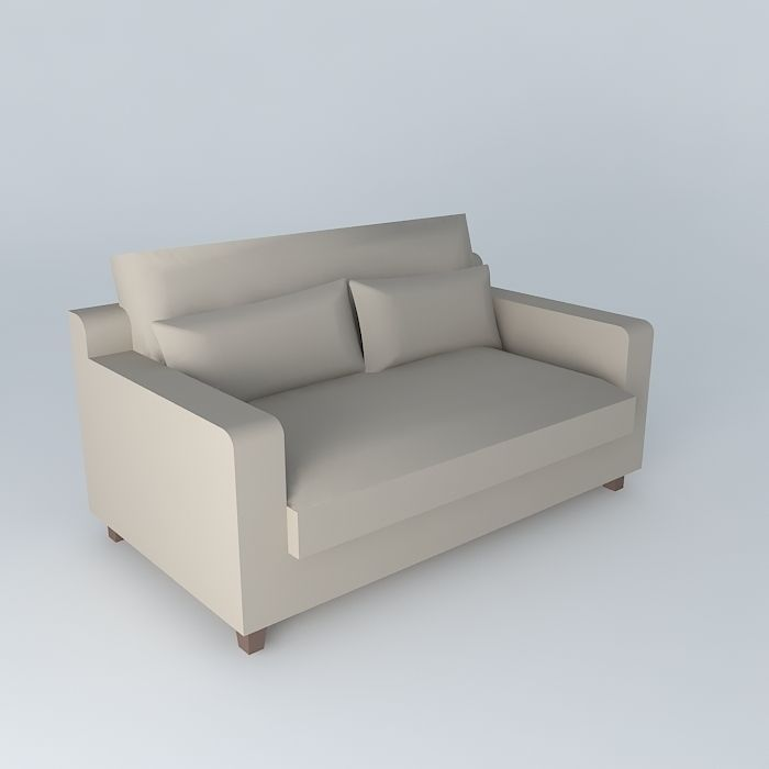 sofa taupe seats 2 st remy maisons du monde 3d model max. Black Bedroom Furniture Sets. Home Design Ideas