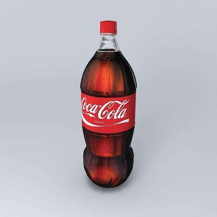coke realistic plastic bottle free 3d model max obj 3ds