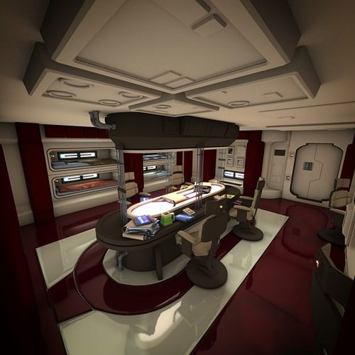 I Like The Concept Of Having The Living Room Dining Room: Spacecraft Interior HD 2 3D