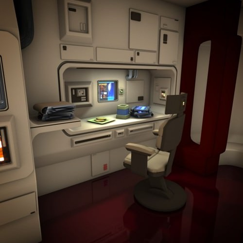 Spacecraft Interior HD 2 3D Model .obj .fbx .lwo .lw .lws