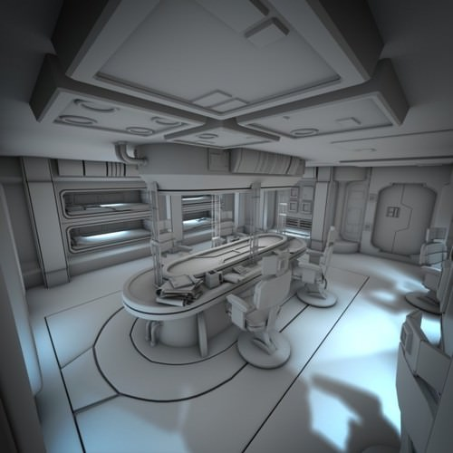 Spacecraft Interior Hd 2 3d Model Obj Fbx Lwo Lw Lws Blend