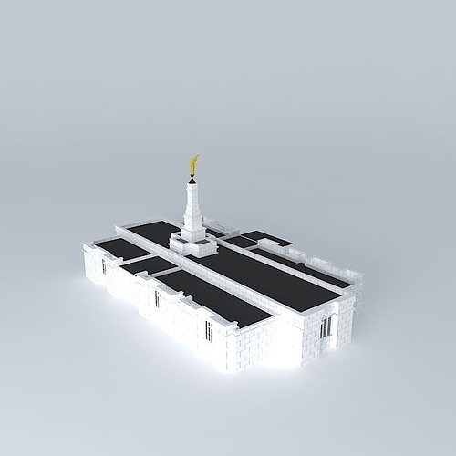 lds. veracruz mexico mormon temple, 93rd operating temple 3d model max obj mtl 3ds fbx stl dae 1