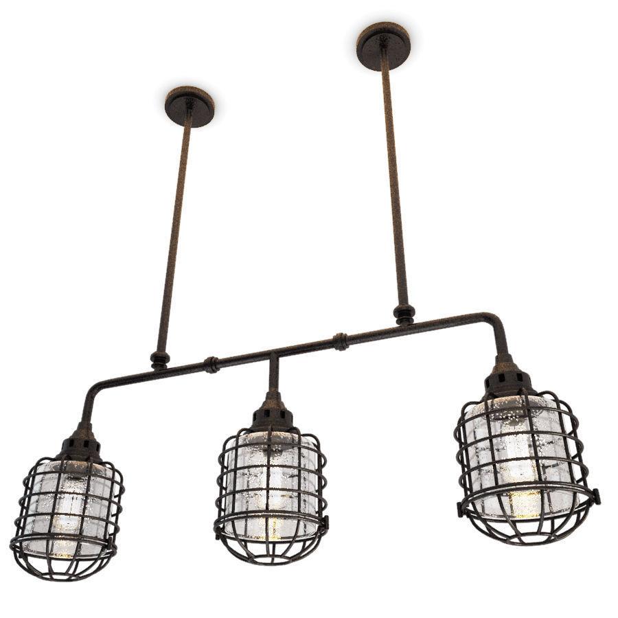Industrial Trio Pendant Light Connell