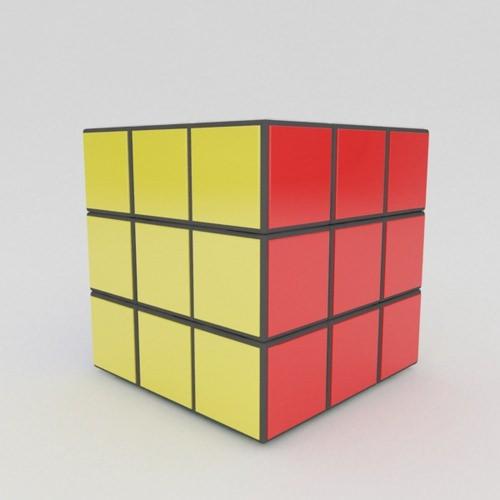 3d print cube in cube cube model