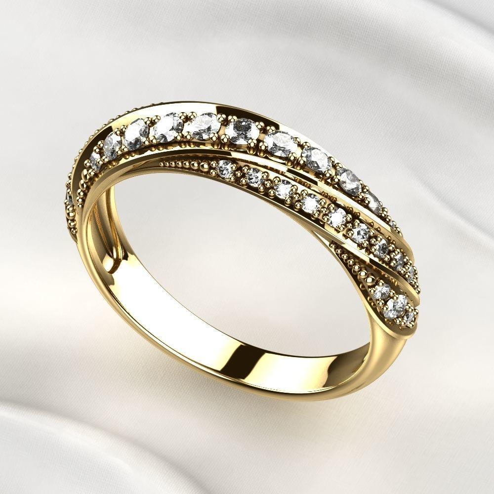 Gem Lines Gold Ring