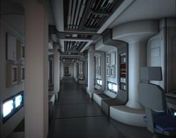 spacecraft corridor hd animated 3d