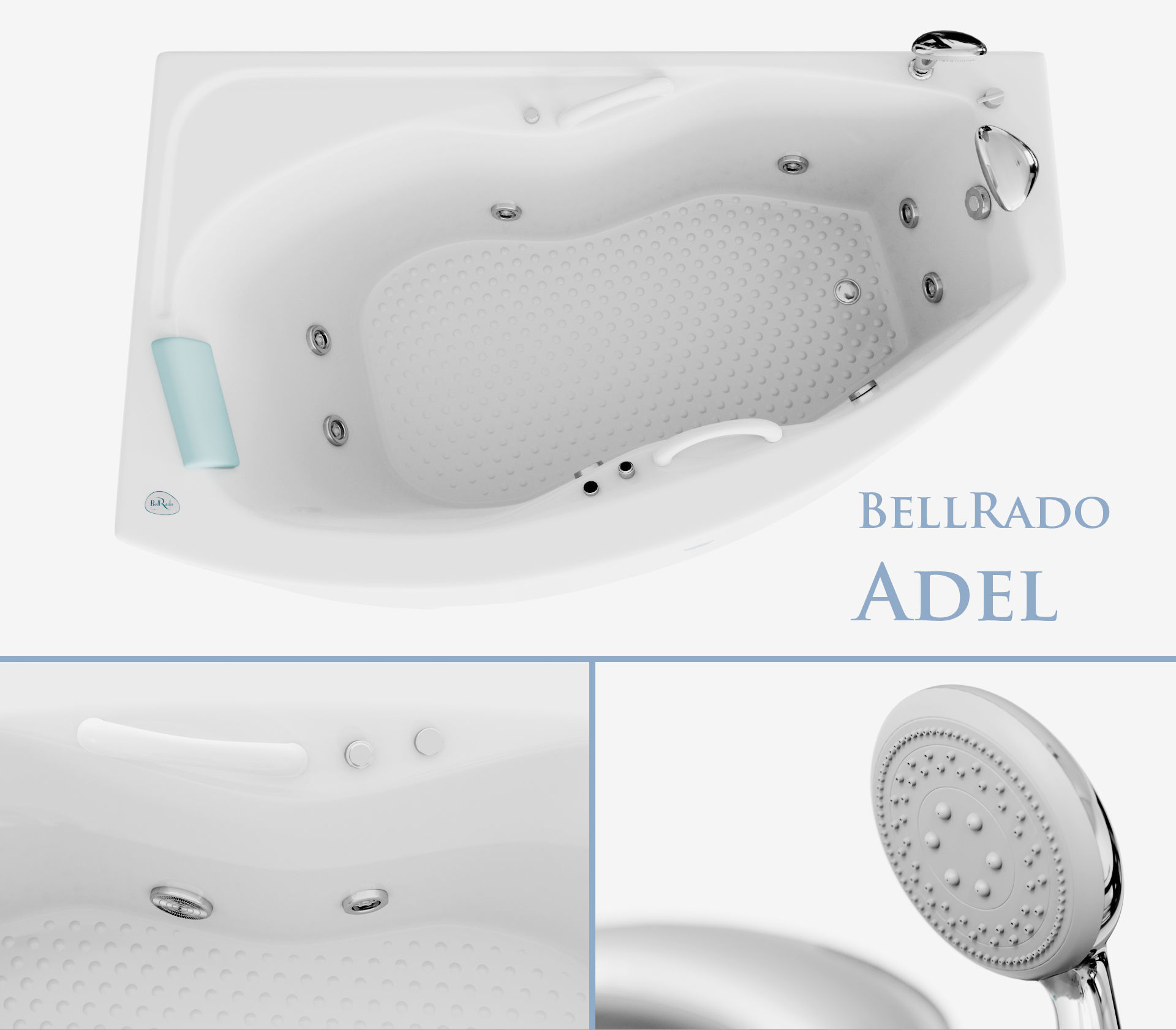 Hydromassage bath Adel