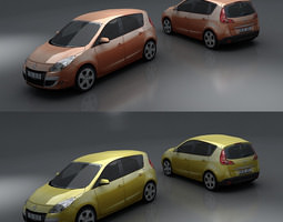 3d asset VR / AR ready renault scenic