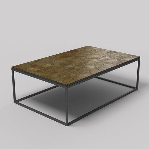 metal coffee table 3d model low-poly max fbx unitypackage prefab 1