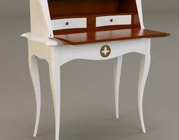 grange Pompadour bureau 3D Model