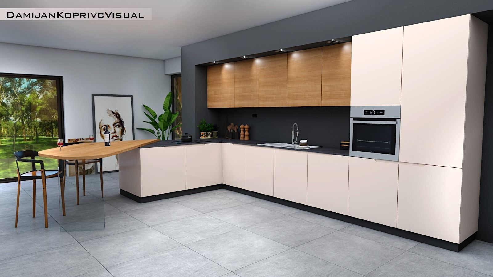 3D model low-poly modern kitchen | CGTrader on Model Kitchen  id=63771