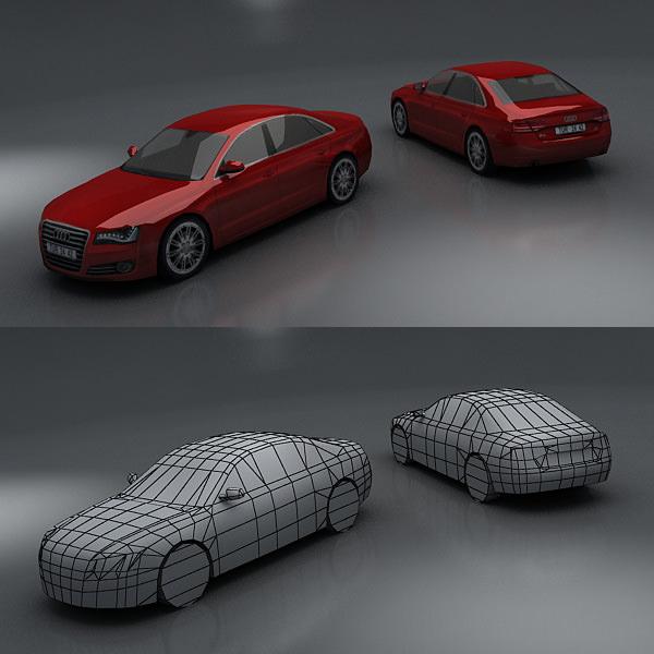 ... Audi A8 3d Model Low Poly Max Fbx 3