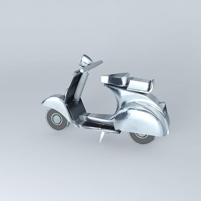 3d Moto Vespa Thumbnail Decoration Cgtrader
