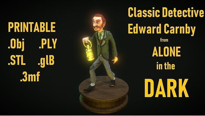 Edward Carnby From Alone In The Dark Printable 1