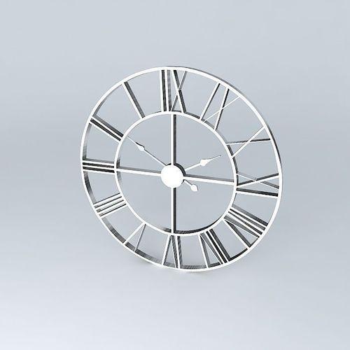 Factory clock maisons du monde 3d model max obj 3ds for Maison du monde job