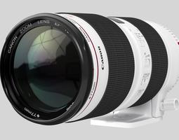 canon zoom lens ef 70-200mm 1 2 8 l is ii usm 3d model