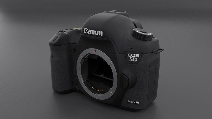 canon 5d mark iii body 3d model max obj mtl fbx stl blend dwg 1