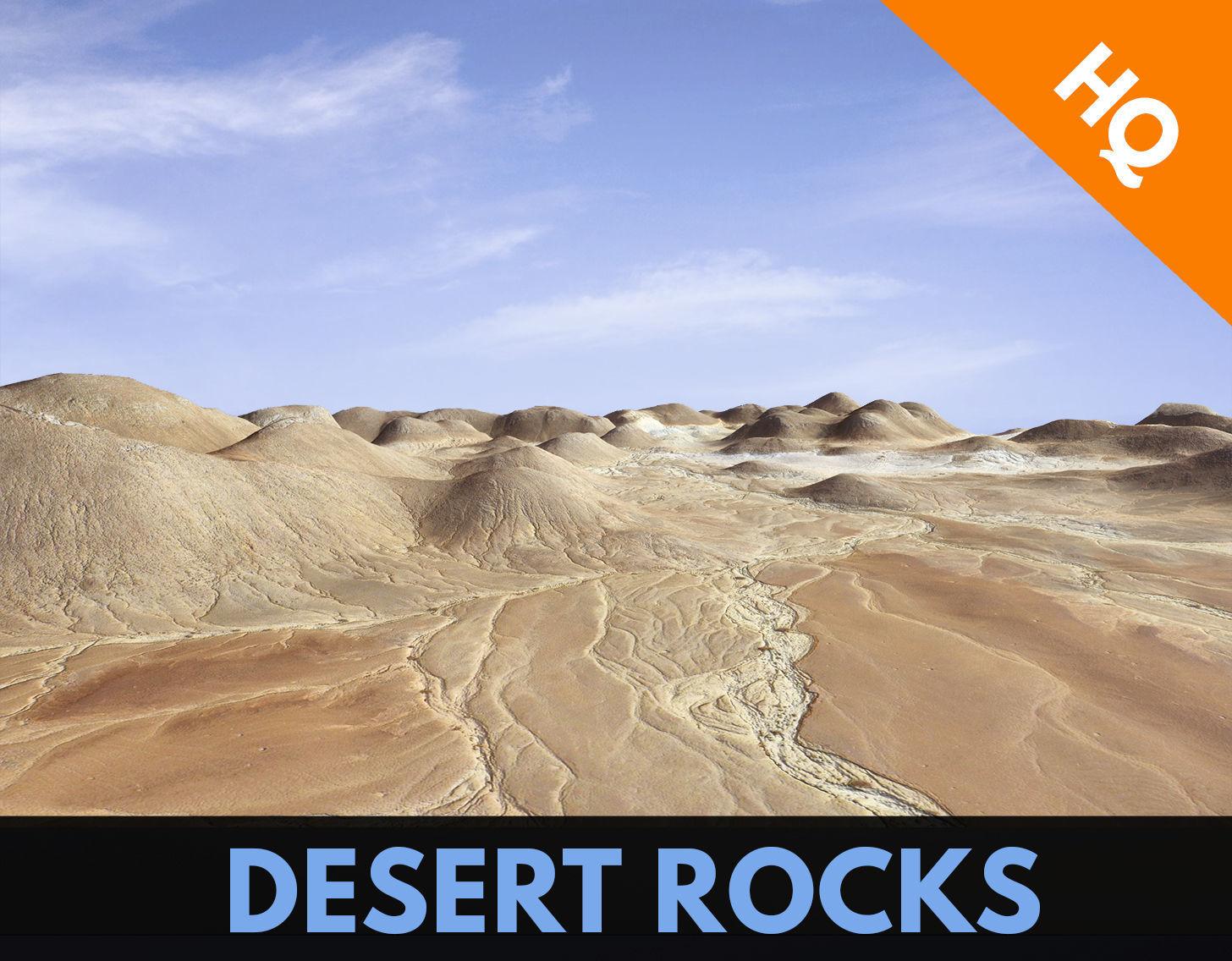 Rocks Terrain Cliffs Mountain Desert Landscape PBR Low Poly 05