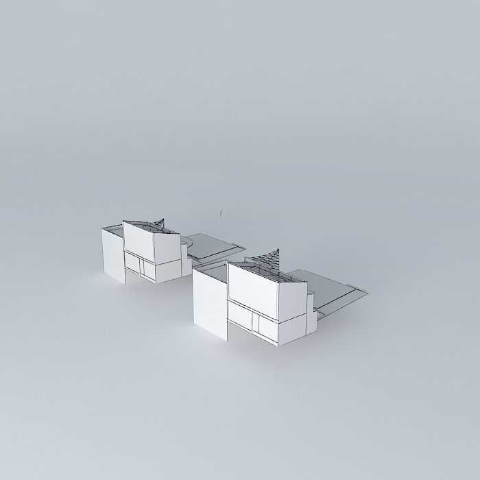 Small house la baule frederic tabary 3d model max obj - Frederic tabary ...