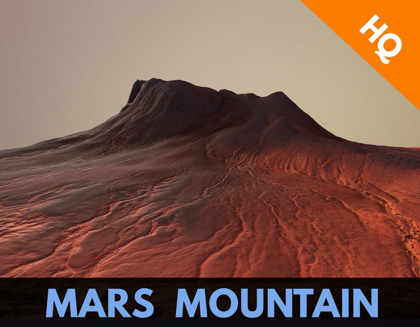 Mars Mountain Desert Terrain Landscape Sufrace PBR 03