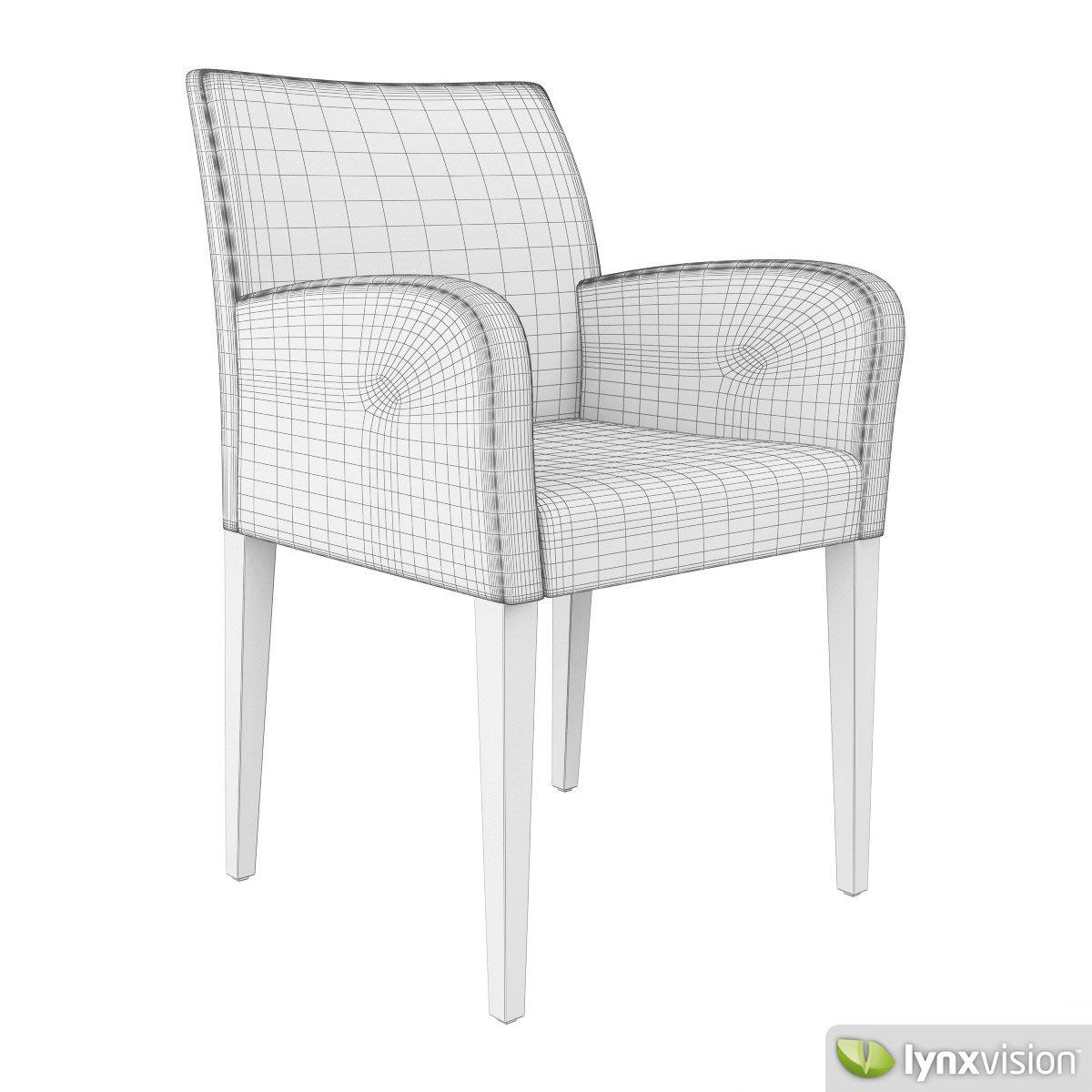 Liz chair by poltrona frau 3d model max obj fbx mtl for Poltrona 3d