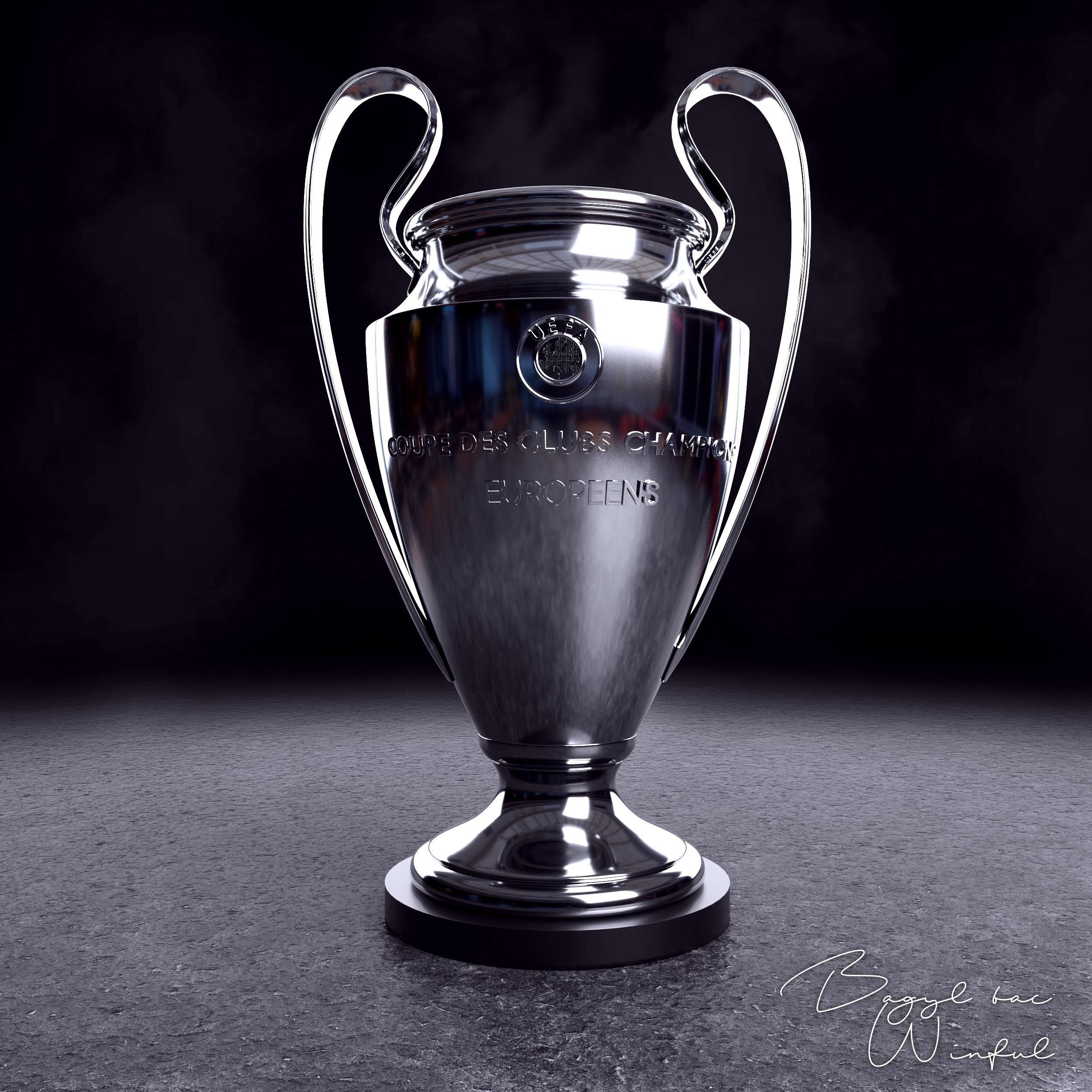 3d model uefa champions league trophy cgtrader uefa champions league trophy 3d model