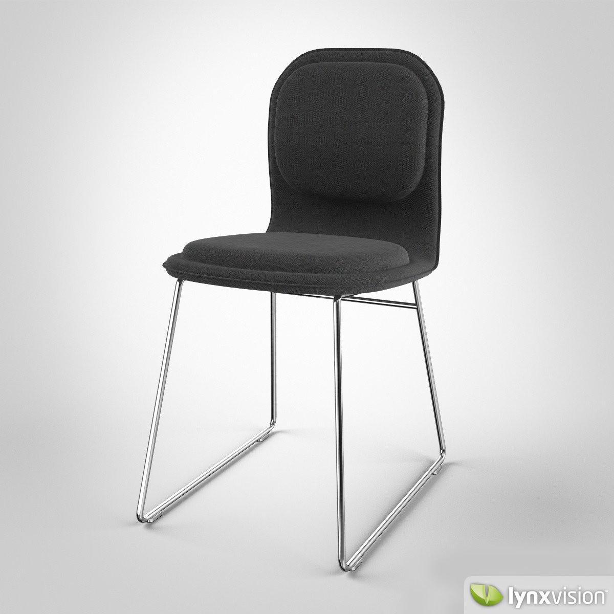 hi pad chair by jasper morrison 3d model max obj fbx mtl. Black Bedroom Furniture Sets. Home Design Ideas