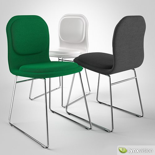 hi pad chair by jasper morrison 3d model max obj fbx mtl 1