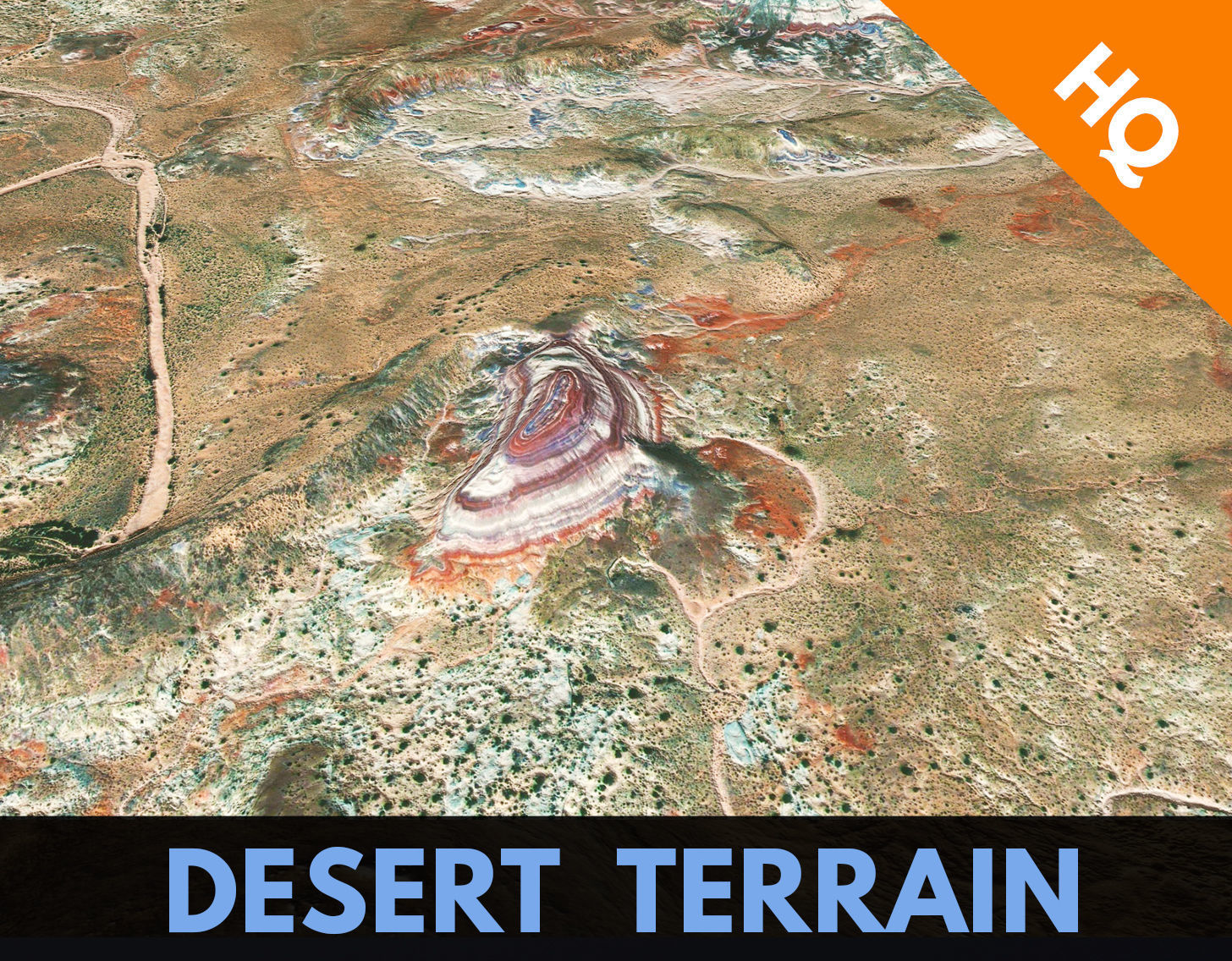Desert Terrain Alien Planet Surface  Relief Landscape PBR 12