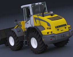 3D model Liebherr L538 Wheel Loader