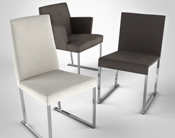 3D model Solo Chair by Antonio Citterio