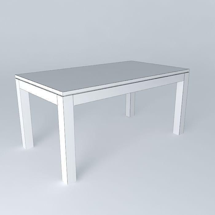 Dining Table Stockholm Maisons du Monde 3D | CGTrader