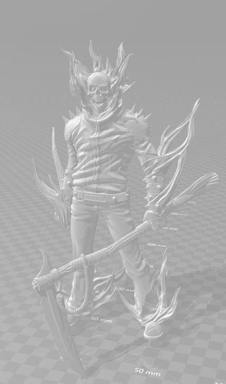Ghostrider figure | 3D Print Model
