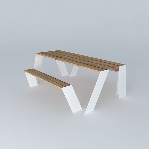 Hopper table outdoor furniture seat from extremis free 3d for Outdoor furniture 3d max