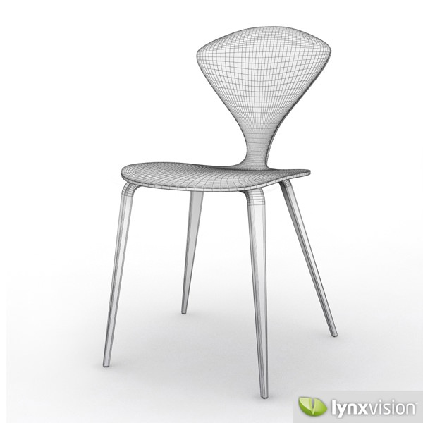 Cherner Side Chair and Armchair 3D Model .max .obj .3ds ...