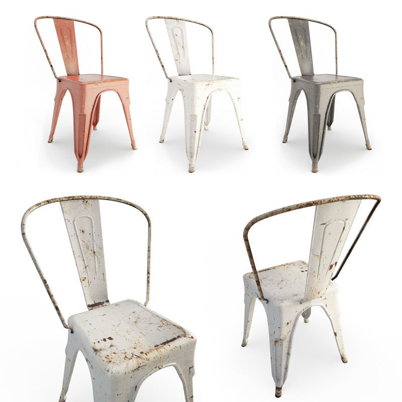 Rusted Metal Chairs Tolix
