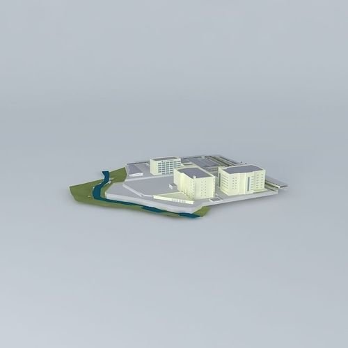 Texas Instrument Site Plan Model 3d Model Max Obj 3ds